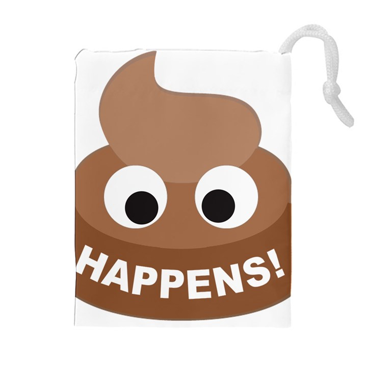 Poo Happens Drawstring Pouches (Extra Large)