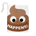 Poo Happens Drawstring Pouches (Extra Large) Back