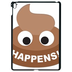 Poo Happens Apple Ipad Pro 9 7   Black Seamless Case