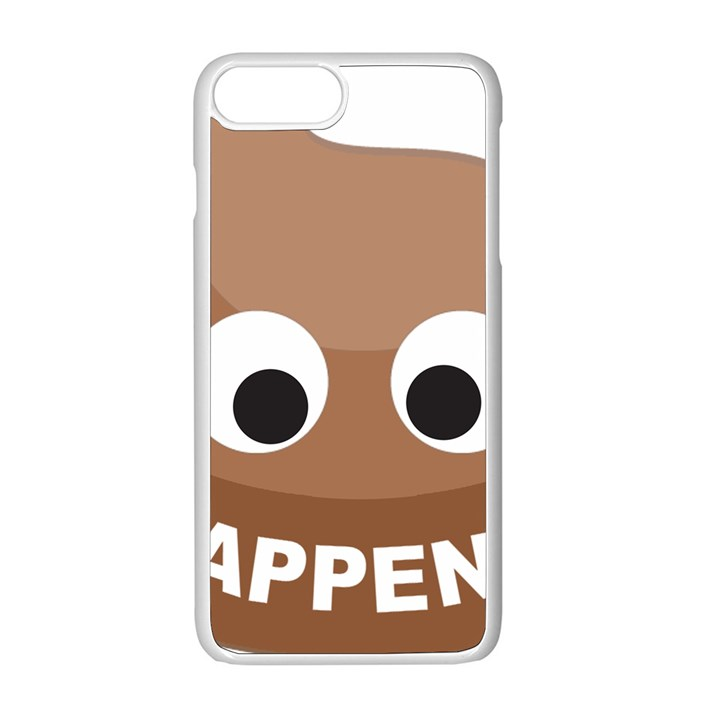 Poo Happens Apple iPhone 8 Plus Seamless Case (White)
