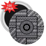Wavy Panels 3  Magnets (100 pack) Front