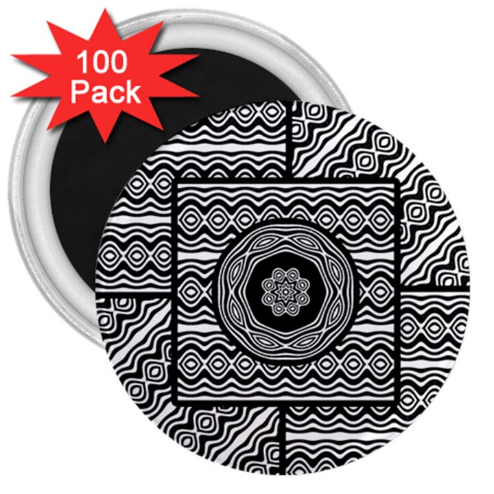 Wavy Panels 3  Magnets (100 pack)