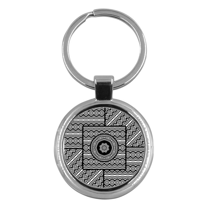 Wavy Panels Key Chains (Round)