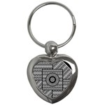 Wavy Panels Key Chains (Heart)  Front