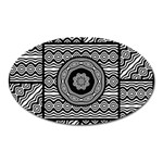 Wavy Panels Oval Magnet Front