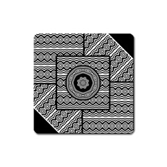 Wavy Panels Square Magnet
