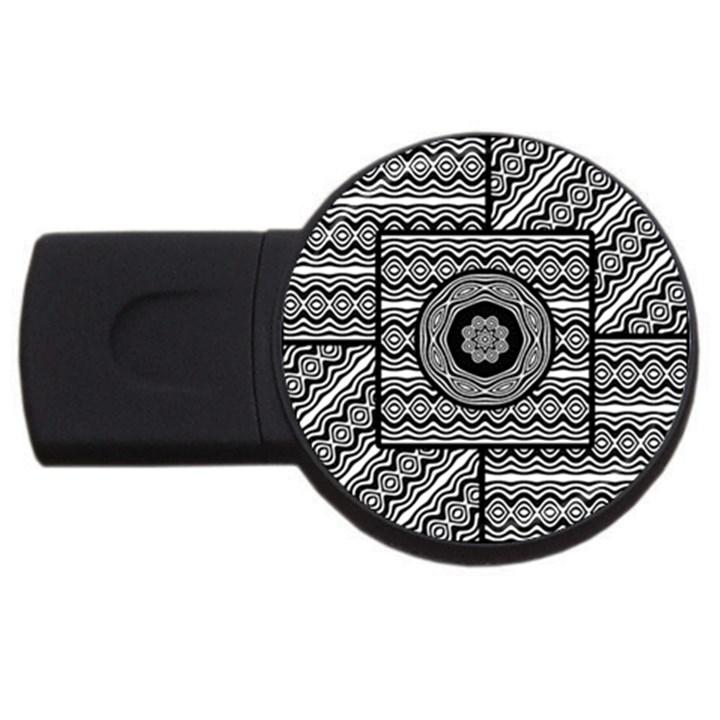 Wavy Panels USB Flash Drive Round (4 GB)