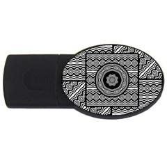Wavy Panels Usb Flash Drive Oval (4 Gb)