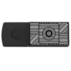 Wavy Panels Rectangular Usb Flash Drive