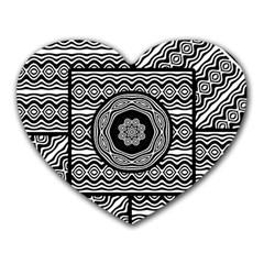Wavy Panels Heart Mousepads