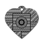 Wavy Panels Dog Tag Heart (Two Sides) Front