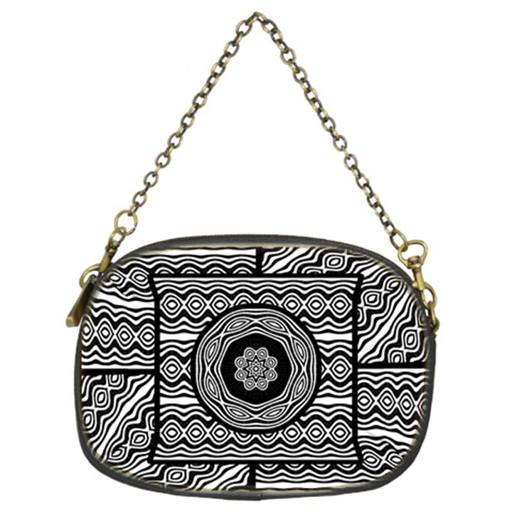 Wavy Panels Chain Purses (Two Sides)