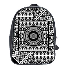 Wavy Panels School Bag (large)