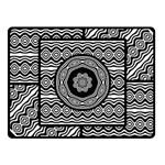 Wavy Panels Fleece Blanket (Small) 50 x40 Blanket Front