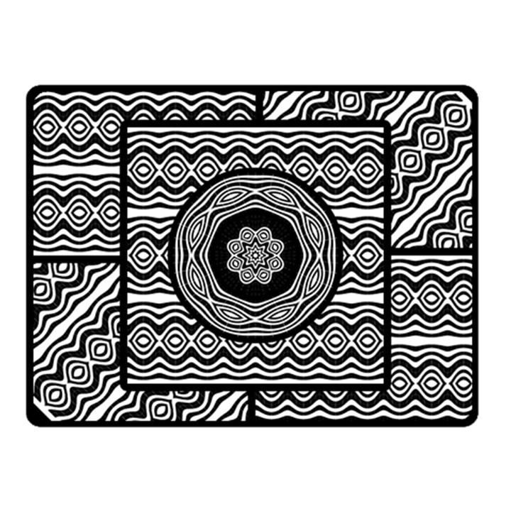 Wavy Panels Fleece Blanket (Small)