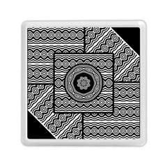Wavy Panels Memory Card Reader (square)