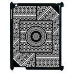 Wavy Panels Apple iPad 2 Case (Black) Front
