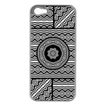 Wavy Panels Apple iPhone 5 Case (Silver) Front