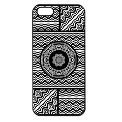Wavy Panels Apple Iphone 5 Seamless Case (black)