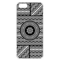 Wavy Panels Apple Iphone 5 Seamless Case (white)