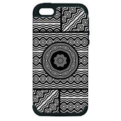 Wavy Panels Apple Iphone 5 Hardshell Case (pc+silicone)