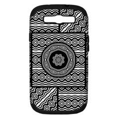 Wavy Panels Samsung Galaxy S Iii Hardshell Case (pc+silicone)