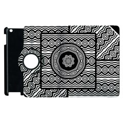 Wavy Panels Apple Ipad 2 Flip 360 Case