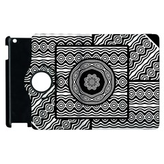 Wavy Panels Apple Ipad 3/4 Flip 360 Case