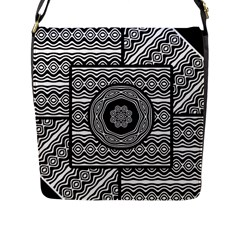 Wavy Panels Flap Messenger Bag (l)