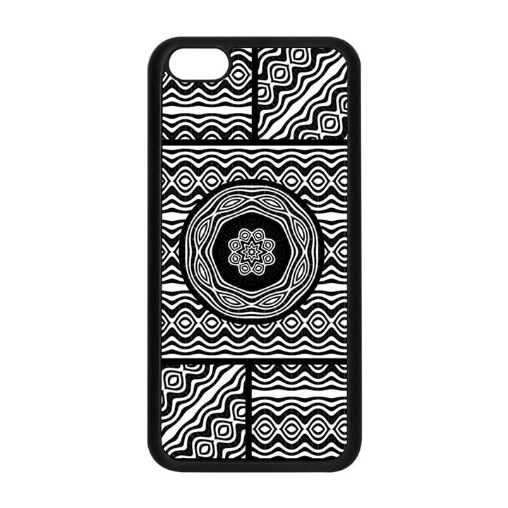 Wavy Panels Apple iPhone 5C Seamless Case (Black)