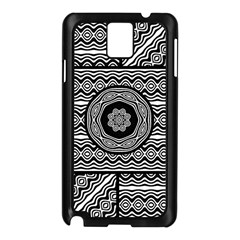 Wavy Panels Samsung Galaxy Note 3 N9005 Case (black)