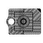 Wavy Panels Kindle Fire HD (2013) Flip 360 Case Front