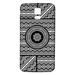Wavy Panels Samsung Galaxy S5 Back Case (White) Front