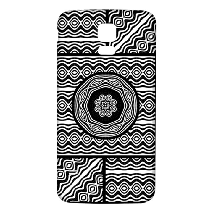 Wavy Panels Samsung Galaxy S5 Back Case (White)