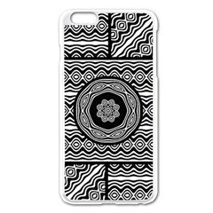 Wavy Panels Apple Iphone 6 Plus/6s Plus Enamel White Case