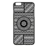 Wavy Panels Apple iPhone 6 Plus/6S Plus Black Enamel Case Front