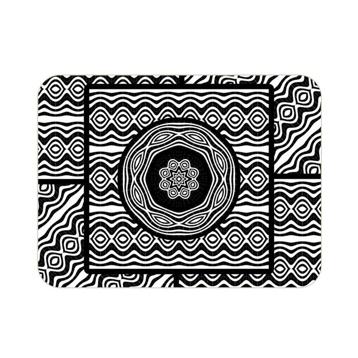 Wavy Panels Double Sided Flano Blanket (Mini)