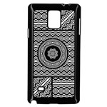 Wavy Panels Samsung Galaxy Note 4 Case (Black) Front