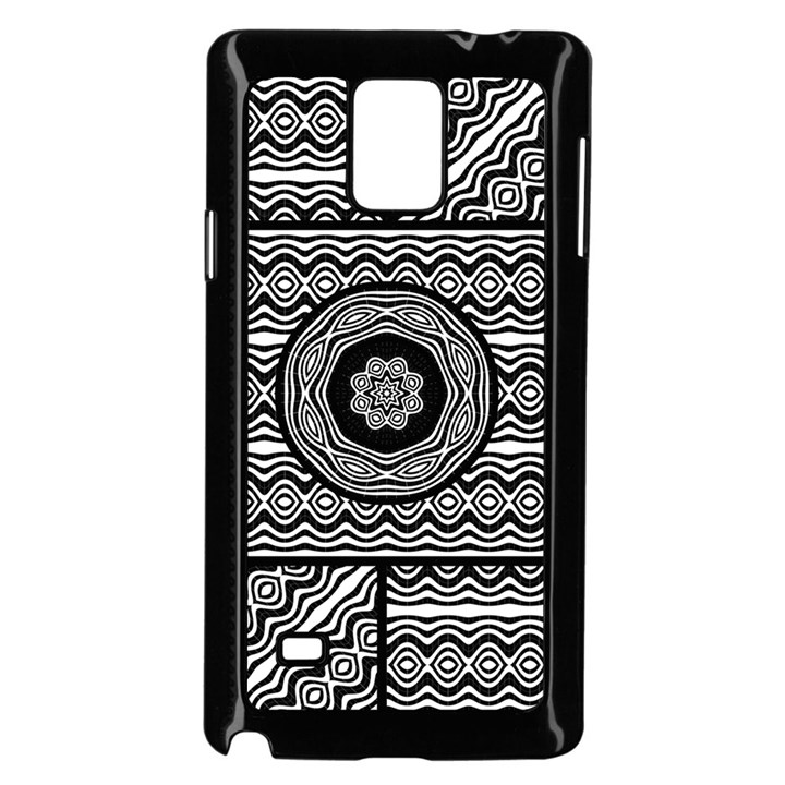 Wavy Panels Samsung Galaxy Note 4 Case (Black)