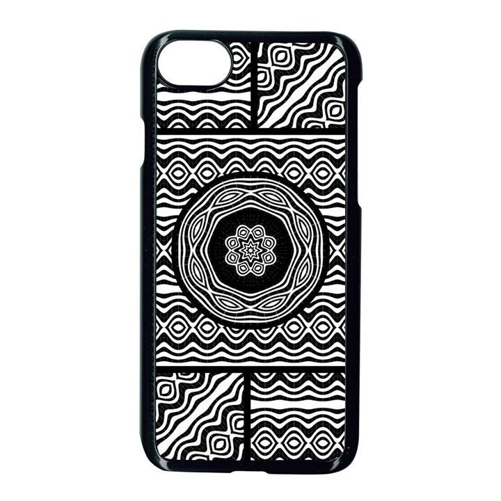 Wavy Panels Apple iPhone 7 Seamless Case (Black)
