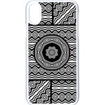 Wavy Panels Apple iPhone X Seamless Case (White) Front