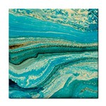 Mint,gold,marble,nature,stone,pattern,modern,chic,elegant,beautiful,trendy Tile Coasters Front