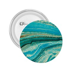Mint,gold,marble,nature,stone,pattern,modern,chic,elegant,beautiful,trendy 2 25  Buttons