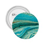 Mint,gold,marble,nature,stone,pattern,modern,chic,elegant,beautiful,trendy 2.25  Buttons Front