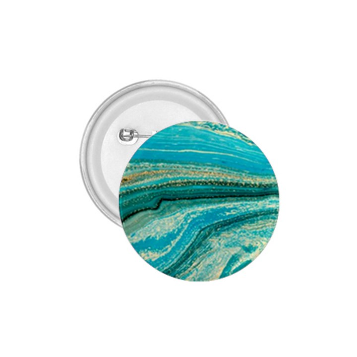 Mint,gold,marble,nature,stone,pattern,modern,chic,elegant,beautiful,trendy 1.75  Buttons