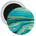 Mint,gold,marble,nature,stone,pattern,modern,chic,elegant,beautiful,trendy 3  Magnets Front