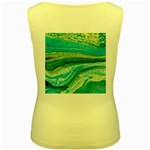 Mint,gold,marble,nature,stone,pattern,modern,chic,elegant,beautiful,trendy Women s Yellow Tank Top Back