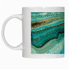 Mint,gold,marble,nature,stone,pattern,modern,chic,elegant,beautiful,trendy White Mugs