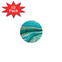 Mint,gold,marble,nature,stone,pattern,modern,chic,elegant,beautiful,trendy 1  Mini Magnet (10 Pack)