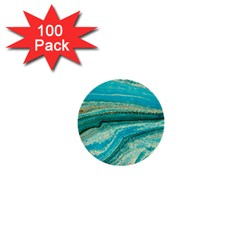 Mint,gold,marble,nature,stone,pattern,modern,chic,elegant,beautiful,trendy 1  Mini Buttons (100 Pack)